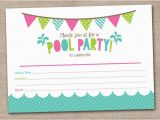 Fillable Birthday Invitations Free Girls Pool Party Printable Invitation Fill by