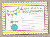 Fillable Birthday Invitations Free Printable Bowling Party Invitation Fill In by