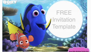 Finding Nemo Birthday Invitation Template Finding Dory Invitations Ideas Drevio Invitations Design