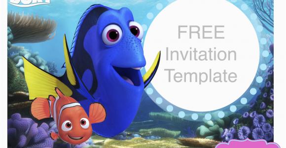 Finding Nemo Birthday Invitation Template Dory Invitations Ideas Drevio Design