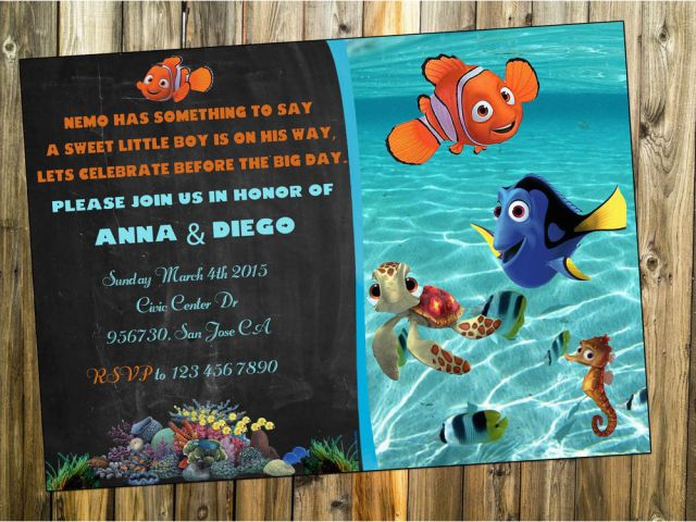 Download By SizeHandphone Tablet Desktop Original Size Back To Finding Nemo Birthday Invitation Template