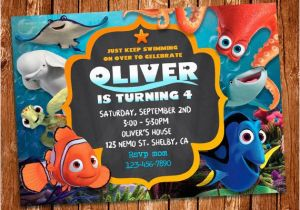 Finding Nemo Birthday Party Invitations Finding Dory Invitation Finding Dory Invite Finding Nemo