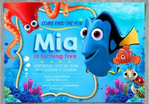 Finding Nemo Birthday Party Invitations Finding Dory Invitation Finding Nemo Dory Invite Disney