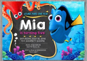 Finding Nemo Birthday Party Invitations Finding Dory Invitation Finding Nemo Invite Disney Pixar