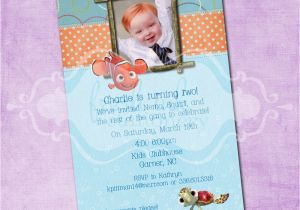 Finding Nemo Birthday Party Invitations Finding Nemo Birthday Invitation
