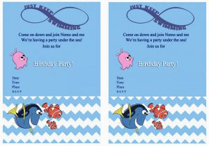 Finding Nemo Birthday Party Invitations Finding Nemo Birthday Invitations Birthday Printable