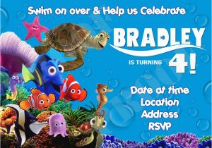 Finding Nemo Birthday Party Invitations Finding Nemo Birthday Invitations Template Best Template