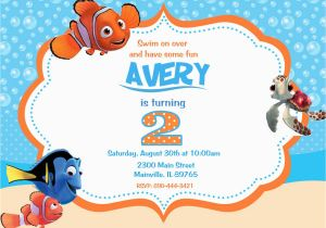Finding Nemo Birthday Party Invitations Finding Nemo Birthday Party Invitations Home Party Ideas