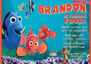 Finding Nemo Birthday Party Invitations Finding Nemo Personalized Birthday thenotecardlady