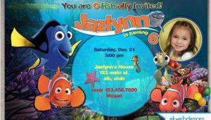 Finding Nemo Photo Birthday Invitations Finding Nemo Birthday Invitation Custom Digital File