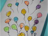 Fingerprint Birthday Cards Digicrumbs Bunch Of Balloons Happy Birthday Card A Diy