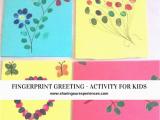 Fingerprint Birthday Cards Fingerprint Greeting Card Activity for Kids