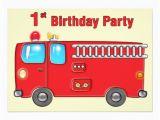 Fire Truck 1st Birthday Invitations Fabulous Fire Truck 1st Birthday 5×7 Paper Invitation Card
