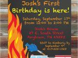 Fire Truck 1st Birthday Invitations Fireman Firetruck theme First Birthday Invitation Printable