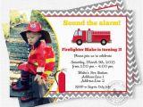 Fire Truck 1st Birthday Invitations Firetruck Birthday Invitation Fire Truck Photo Invitation