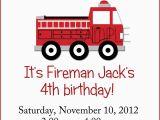 Fire Truck 1st Birthday Invitations Little Red Fire Truck Birthday Party Invitation by