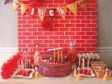 Fire Truck Birthday Decorations Eat Drink Pretty A Firetruck Birthday Party