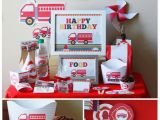 Fire Truck Birthday Decorations Fire Truck Birthday Party Decorations Printable Firetruck