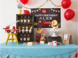 Fire Truck Birthday Decorations Kara 39 S Party Ideas Firetruck themed Birthday Party Kara