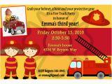 Fire Truck Birthday Invitations Free Fire Truck Birthday Invitations Ideas Bagvania Free