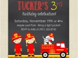 Fire Truck Birthday Invitations Free Fire Truck Birthday Party Invitation Firetruck Birthday