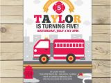 Fire Truck Birthday Invitations Free Firetruck Birthday Invitation Fire Truck Invitation