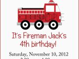 Fire Truck Birthday Invitations Free Little Red Fire Truck Birthday Party Invitation by