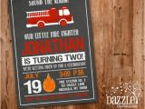 Fire Truck Birthday Invitations Free Printable Chalkboard Fire Truck Birthday Invitation Fire