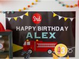 Fire Truck Birthday Party Decorations Kara 39 S Party Ideas Firetruck themed Birthday Party Via