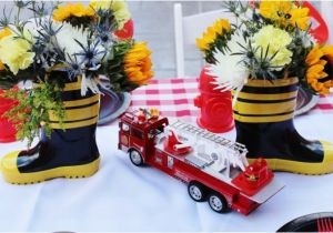 Firefighter Birthday Decorations A Two Alarm Fireman Birthday Party Spaceships and Laser