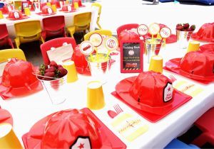 Firefighter Birthday Decorations Firefighter Birthday Party Oh My Omiyage