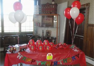 Firefighter Birthday Decorations Fireman Birthday Party In Red and orange Decorations