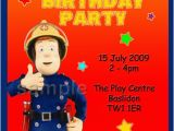 Fireman Sam Birthday Invitations 1funparty Personalised Fireman Sam Birthday Party