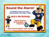 Fireman Sam Birthday Invitations Fireman Sam Birthday Party Invitation by Estyinvitestudio