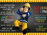Fireman Sam Birthday Invitations Fireman Sam Chalkboard Invitation Invite Studioinvite Studio