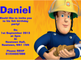 Fireman Sam Birthday Invitations Fireman Sam Children S Birthday Party Invitations