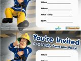 Fireman Sam Birthday Invitations Fireman Sam Firemen and Party Invitations On Pinterest