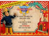 Fireman Sam Birthday Invitations Personalized Fireman Sam Invitations Thank You Cards