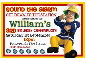 Fireman Sam Birthday Invitations Photography by Michelle William 39 S Fireman Sam Party