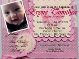 First Birthday and Baptism Invitation Wording First Birthday and Baptism Invitations First Birthday