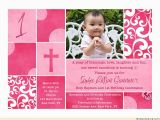 First Birthday and Baptism Invitation Wording Free Printable First Birthday and Baptism Invitations