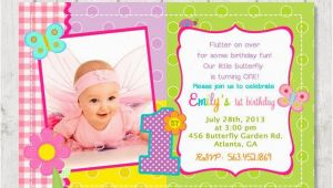 First Birthday butterfly Invitations butterfly 1st Birthday Invitation Diy Custom by