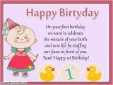 First Birthday Card Messages for Baby Girl 1st Birthday Wishes for A Sweet Baby Girl Nicewishes