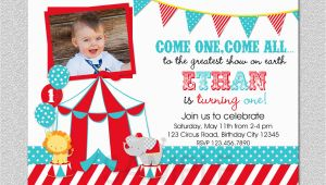 First Birthday Circus Invitations Circus Birthday Invitation 1st Birthday Circus Party