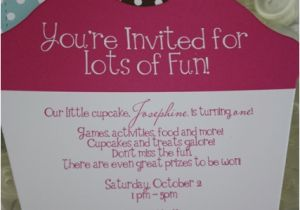 First Birthday Cupcake Invitations Diy Themed 1st