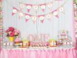 First Birthday Decoration for Girl A Cupcake themed 1st Birthday Party with Paisley and Polka