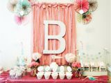 First Birthday Decorations for Girls Kara 39 S Party Ideas Vintage Chic 1st Girl Boy Birthday