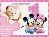 First Birthday Ecard Invitation Free Unique Ideas For Minnie Mouse 1st Invitations