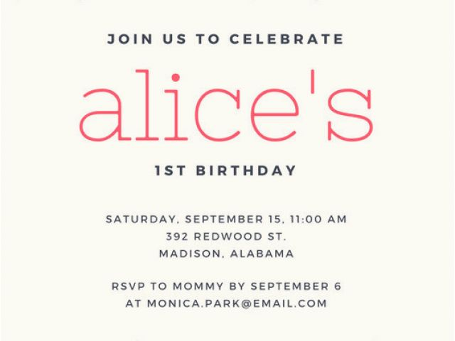 Download By SizeHandphone Tablet Desktop Original Size Back To First Birthday Invitation Email