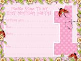 First Birthday Invitation Email Printable 1st Birthday Party Announcements Printable